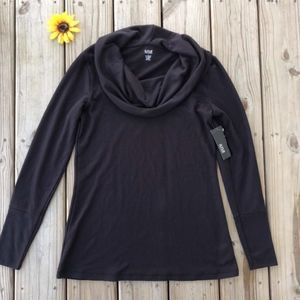 ANA Black Cowl Neck Long Sleeve NEW